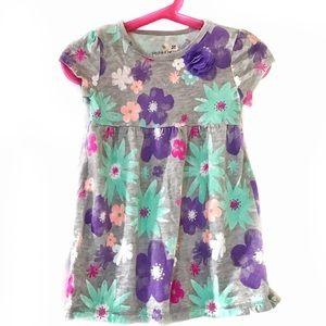 Jelly Beans Sz 3 Gray & Floral Cotton Dress Sz 3